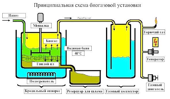 Биогазовая установка своими руками схема