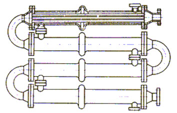 4 х секционный теплообменник теплообменник на отработанном масле